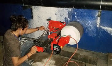 <strong>Side drilling in basement</strong>
